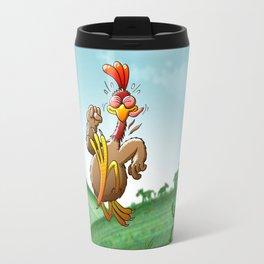 Chicken Running for His Life Travel Mug