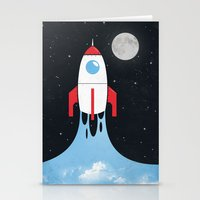 rocket Stationery Cards featuring Rocket by laurxy