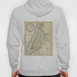 Vintage Map of New York City (1869) Hoody
