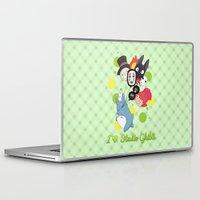 studio ghibli Laptop & iPad Skins featuring I ♥ Studio Ghibli by Lacis