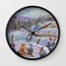 DianeL - plaisirs hiver Wall Clock