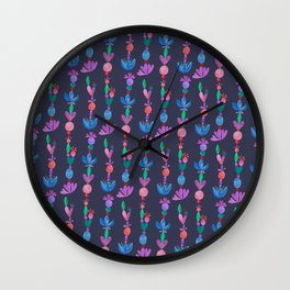 Balance Pattern - Scandinavian Folk Art Wall Clock