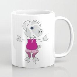 Cute little piglet - cartoon style drawng. Coffee Mug
