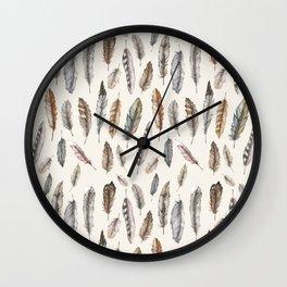 Feathery Nature Pattern Wall Clock