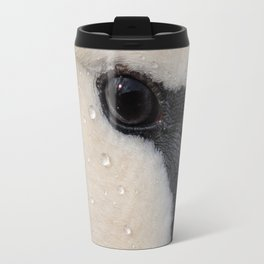 Mute Swan in Winter - CloseUp Travel Mug
