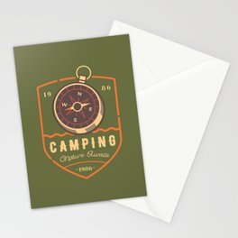 Compass Camping Stationery Cards