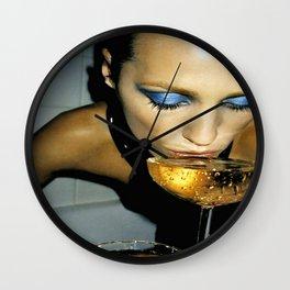 Champagne Slurp Wall Clock