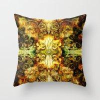fibonacci Throw Pillows featuring Fibonacci 3 by Aleks7