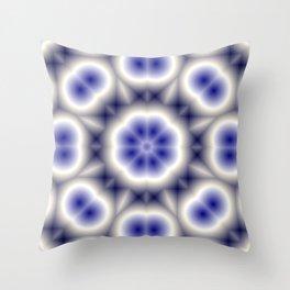 Blue Eyed Owl Throw Pillow
