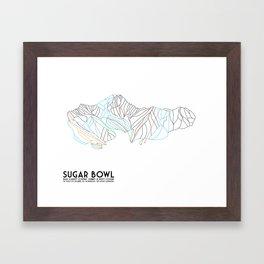 Sugar Bowl, CA - Minimalist Trail Map Framed Art Print