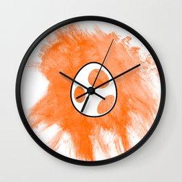 Orange Yoshi Egg Wall Clock