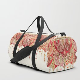 Royal Red Art Deco Double Drop Duffle Bag