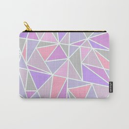 Pastel Shards Geometric Pattern Carry-All Pouch
