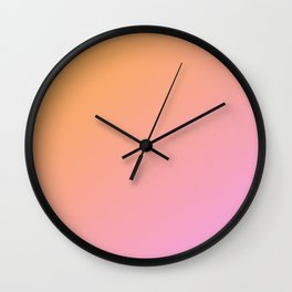 Orange, pink Ombre. Wall Clock