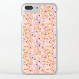 Pink Daisies Clear iPhone Case