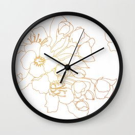 Bouquet in Rose & Gold Wall Clock