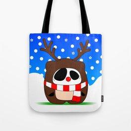 Panda Plopz (Reindeer) Tote Bag