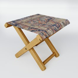 Vintage Woven Blue Folding Stool