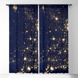 Satellite Image City Lights Of The United States America Year 2012 Ultra HD Blackout Curtain