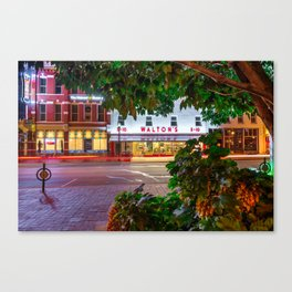 A Night On The Bentonville Arkansas Square Canvas Print