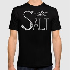 Into the Salt Black MEDIUM Mens Fitted Tee