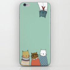 You crazy cat iPhone & iPod Skin