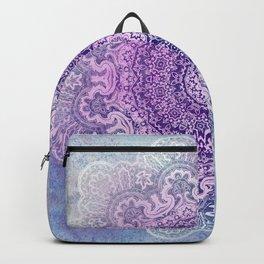 big beauty mandala in pale blues Backpack