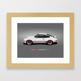 Porsche 911 2.7 RS - White/Red Framed Art Print