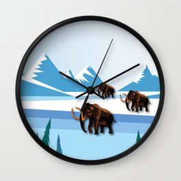 An Ice Age History Wall Clock