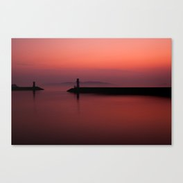 Slow City Sunset Canvas Print