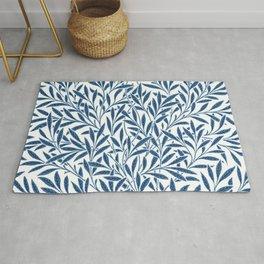 William Morris Navy Blue Botanical Pattern 9 Rug