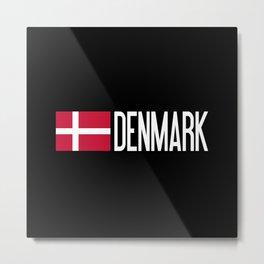 Denmark: Danish Flag & Denmark Metal Print