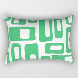 Retro Mid Century Modern Abstract Pattern 336 Green Rectangular Pillow