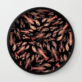 Lobsters Galore! Wall Clock