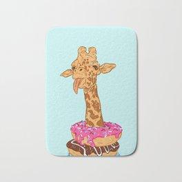 Donuts giraffe Bath Mat