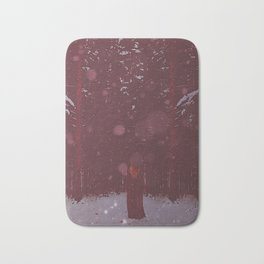 the Woman in Red Bath Mat