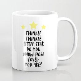 Twinkle Twinkle Little Star, Kids Room Decor, Typography, Baby Nursery, Room Decor Coffee Mug
