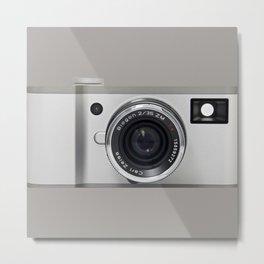 silver camera Metal Print