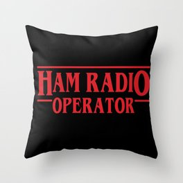 Strange Ham Radio Operator Throw Pillow