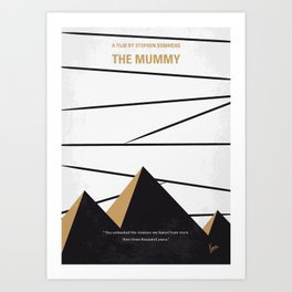 No642 My The Mummy minimal movie poster Art Print