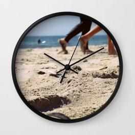 Walking on the Sand, Queens, New York City Wall Clock