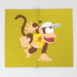 DIDDY KONG(SMASH)YELLOW Throw Blanket