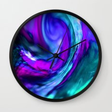 turquiose and purple abstract Wall Clock