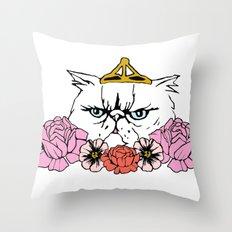 Queen Cat Throw Pillow