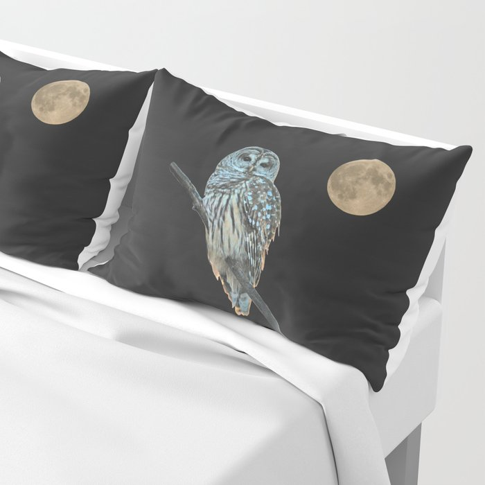 Owl, See the Moon (Barred Owl) Pillow Sham