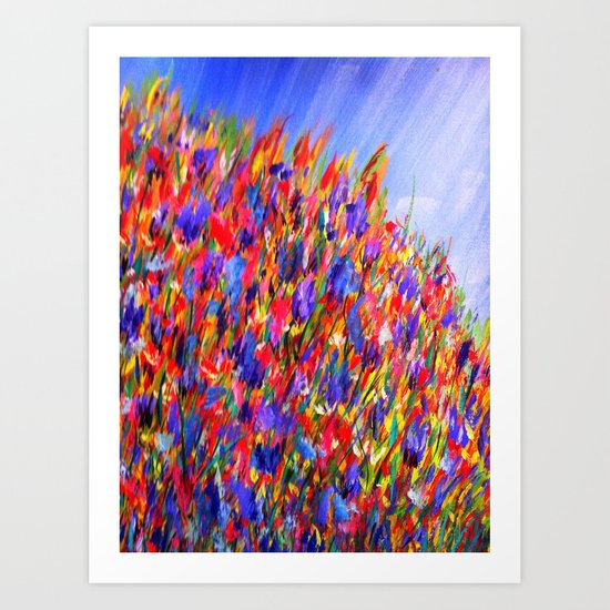 wild flowers/abstract Art Print