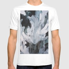 Gabbs Abstract White Mens Fitted Tee MEDIUM