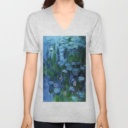Claude Monet Water Lilies / Nymphéas deep Unisex V-Neck