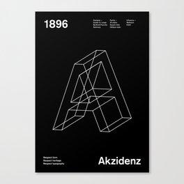 Sans Serif Vol. ¹ – Akzidenz Canvas Print
