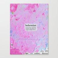 bohemian Canvas Prints featuring bohemian by Cari Barbachano